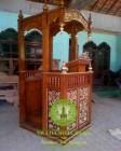 Harga Mimbar Masjid Khutbah Model Sederhana Ukiran Kaligrafi