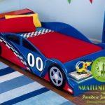 Gambar tempat tidur dipan anak karakter mobil