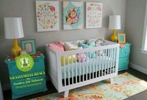 Set kamar tidur box bayi kayu warna putih harga paling murah