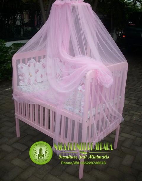 jual box bayi tempat tidur kayu jati harga paling murah