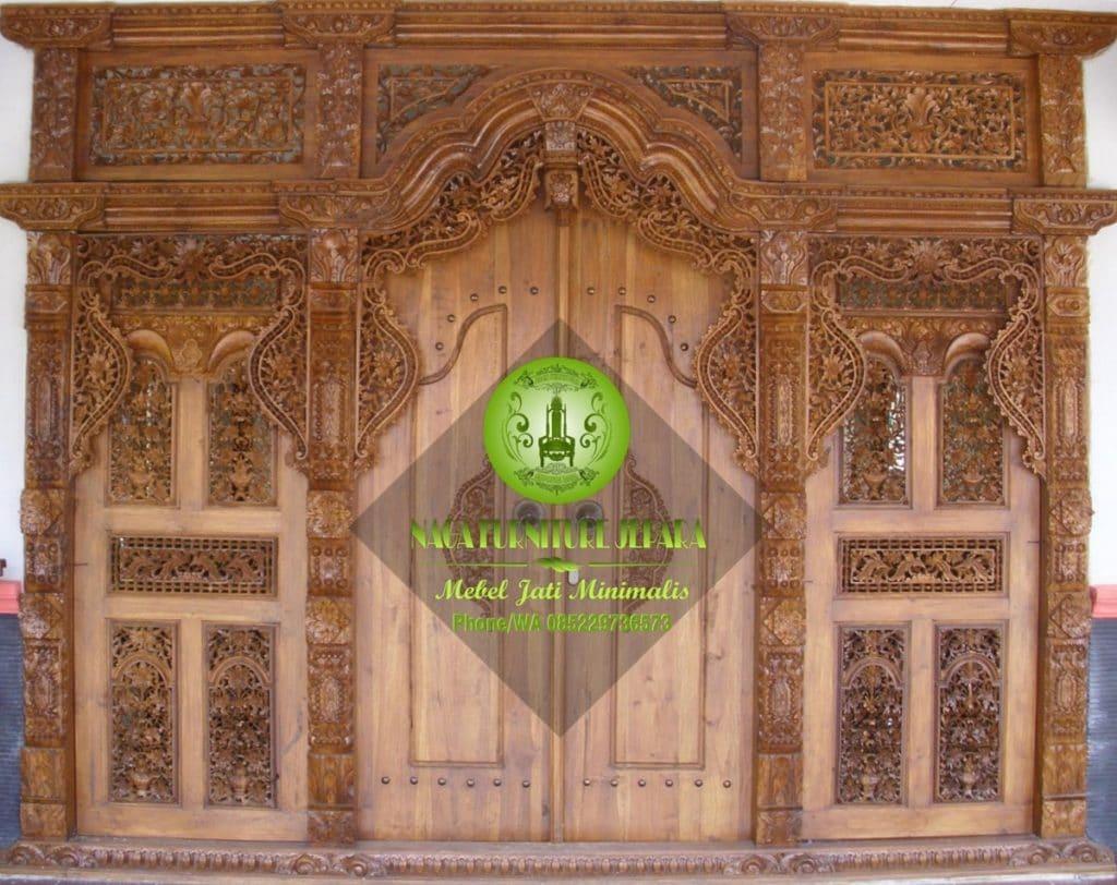 gambar pintu gebyok minimalis jepara