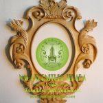 Pigura Cermin Dinding Kayu Jati Ukir Minimalis