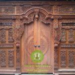 Jual Pintu Gebyok Ukir Jati Minimalis Rumah Jawa Jepara