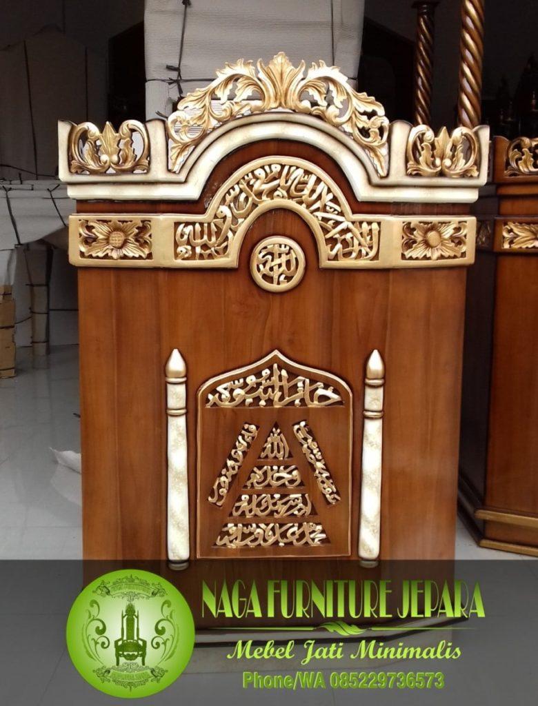 harga mimbas masjid sederhana murah