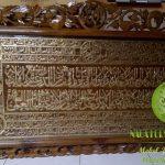 Jual Ukiran Kaligrafi Kayu Jati Hiasan Dinding Harga Murah