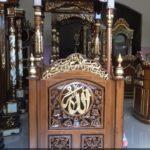 Jual Mimbar Masjid Minimalis Jati Ukiran Kaligrafi Jepara