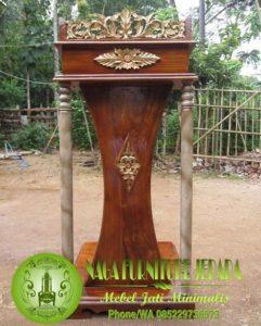 podium khutbah di masjid atau rapat presiden