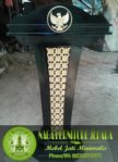 Mimbar Podium Presiden Logo Garuda Jati Minimalis