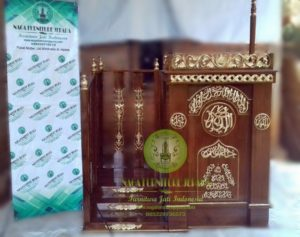gambar mimbar masjid tangga modern minimalis elegan