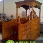 Mimbar Masjid Atap Kubah Ukiran Kaligrafi Jepara Termurah