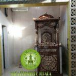 Gambar Mimbar Masjid Kaligrafi Jati Jepara