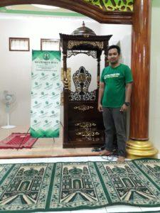 harga mimbar masjid depan ukir kaligrafi