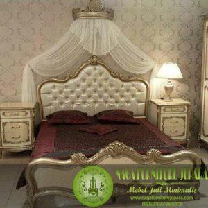 Gambar Tempat Tidur Emas Jepara Mewah