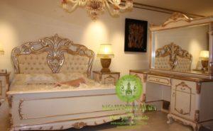 Tempat Tidur spring bed quantum bedroom silver emas putih mewah