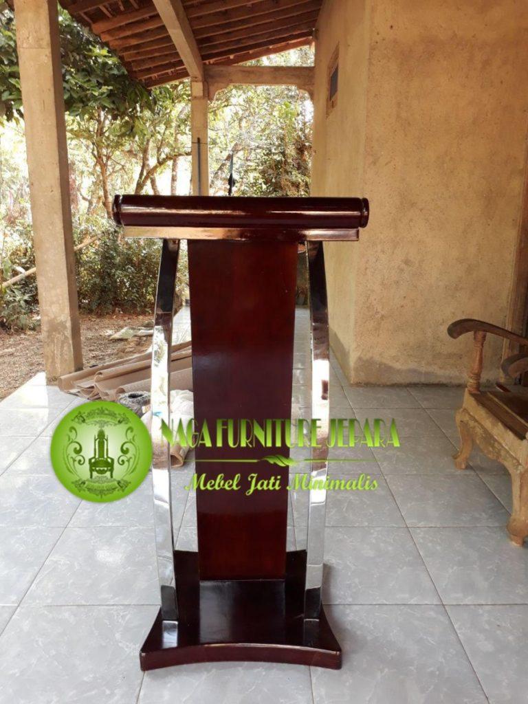 gambar mimbar podium stainless terbaru
