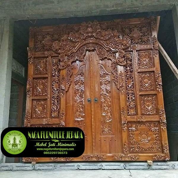 Jendela Pintu Gebyok Bali Motif Ukir Gunungan Bunga