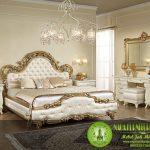 Set kamar Tidur cat duco putih emas Mewah Jakarta